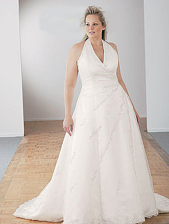PS-749 Wedding Gown Plus Size Halter