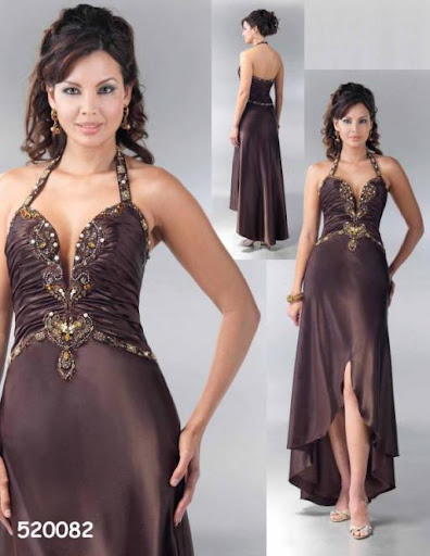 chocolate prom dress - bridal gown
