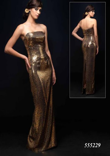 chocolate prom dress - wedding gown