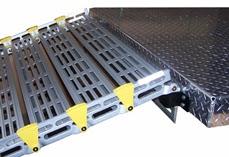 Photo: Top approach plate on ramp hooks into seg-mount brackets.