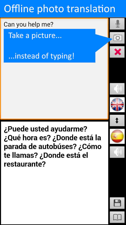 Translate Offline: 8 languages- screenshot