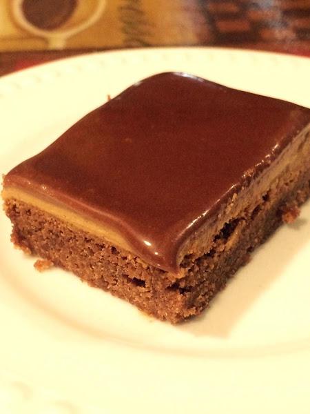 Chocolate Glazed Peanut Butter Brownies Recipe