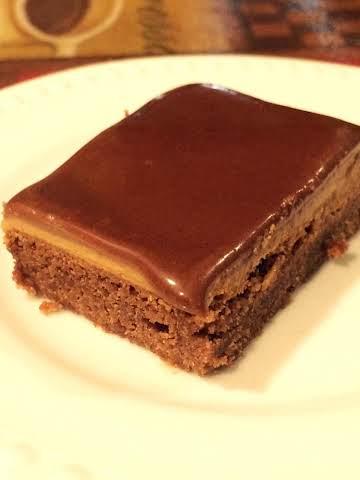 Chocolate Glazed Peanut Butter Brownies