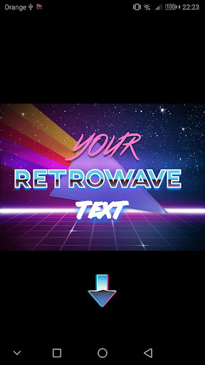 Screenshot for Retrowave Wallpapers PRO (Live Walls,GIFs & Radio) in United States Play Store