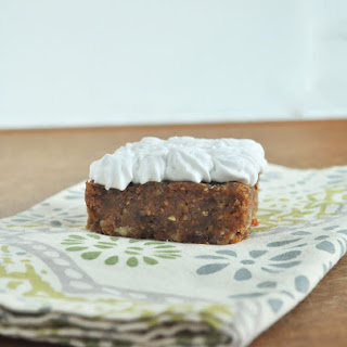 Frosted Carrot Cake Bars