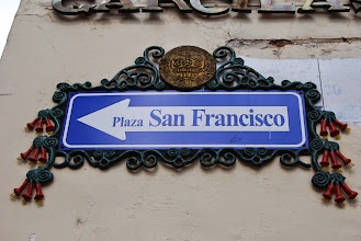 Photo: I happen to be staying just off Plaza San Francisco :)