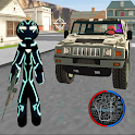 Black Iron Stickman Rope Hero City Gangstar Mafia icon