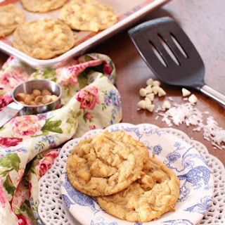 Small Batch Tropical White Chocolate Chip Cookies
