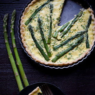 Asparagus, Goat Cheese and Chive Quiche