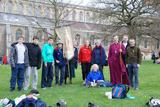 Photo: The Bishop of Bedford joins a group from Rickmansworth