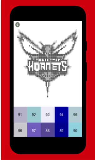 pixel art maker-Nba basket ball color by number 3.0 screenshots 2