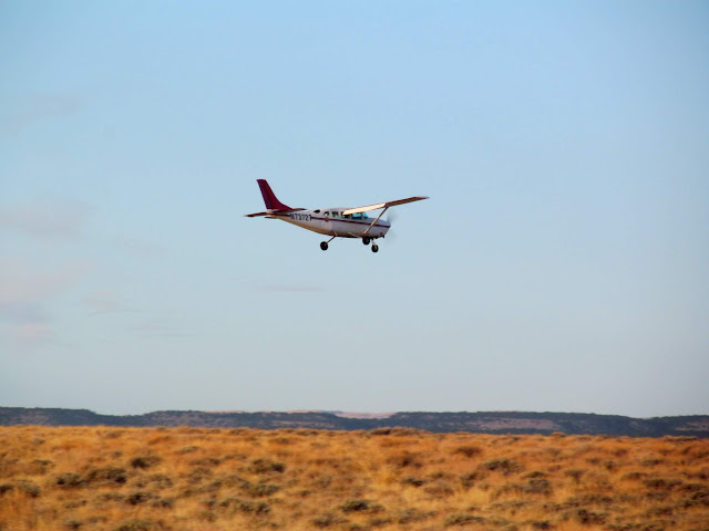 Plane that dropped off a passenger at the airstrip