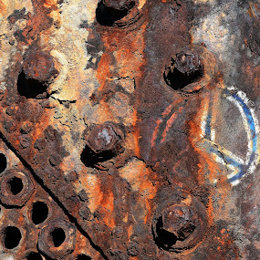 Rusted boiler by Hennie Wolmarans - Artistic Objects Other Objects ( colour, shipwreck, graffiti, rusted, artistic,  )