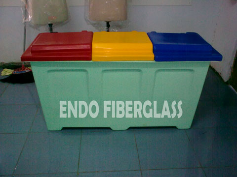 Tong Sampah Fiberglass 3in1 Model Kotak