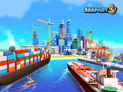 Sea Port: Build Town & Ship Cargo  MOD APK (Unlimited Gems) 1