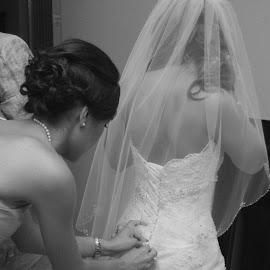 Getting ready by Brenda Shoemake - Wedding Getting Ready