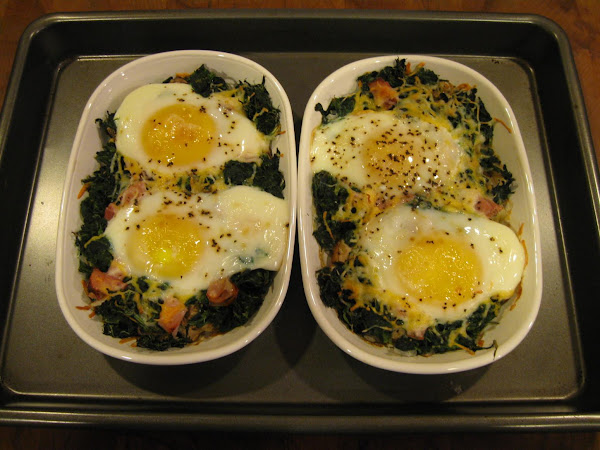 Eggs With Mushrooms And Spinach Recipe