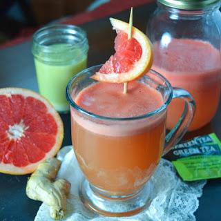 Hot Grapefruit Ginger Green Tea.