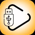 usb otg audio video player checker icon