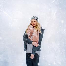 Danielle  by Elizabeth Loera - People Portraits of Women ( idaho, georgetown summit, mountains, snow, college )