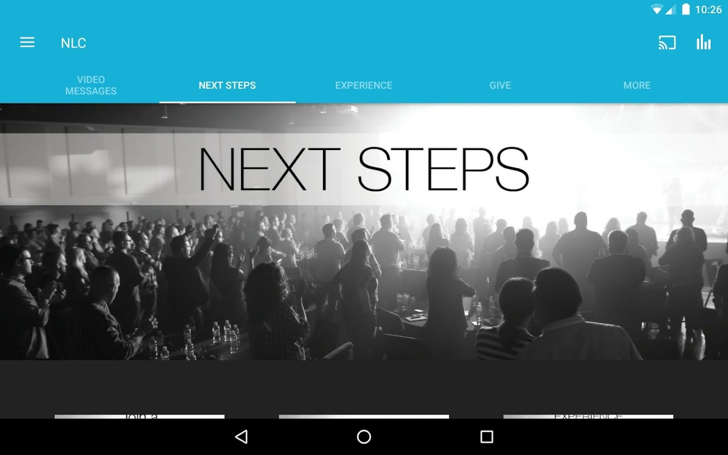 Next Level Church App- screenshot