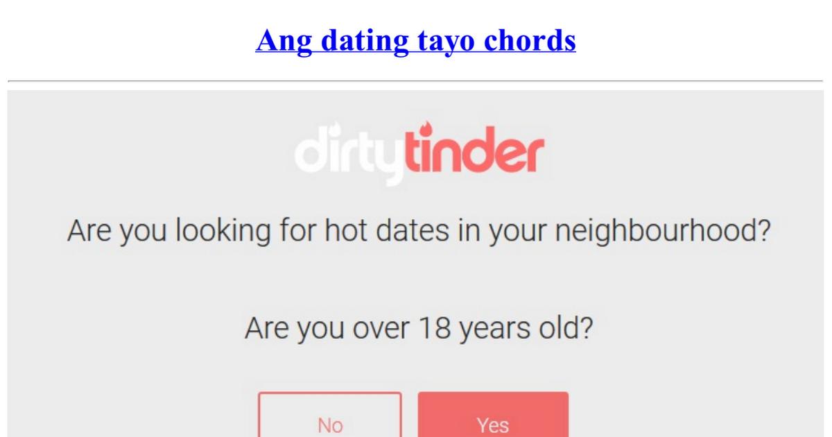 Basic chords of dating tayo
