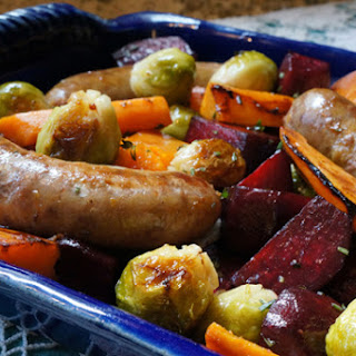 Roasted Root Vegetables with Sausage