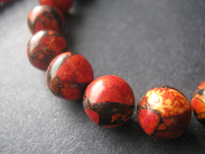 Black and Red Mystery Beads