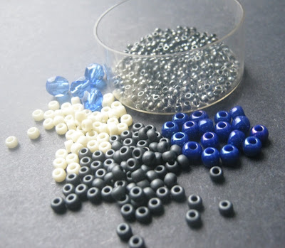 Blue Ivory Bead Palette