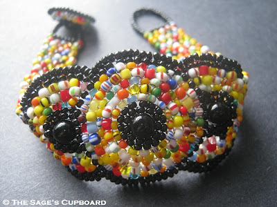 Trade Bead Medallion Bracelet