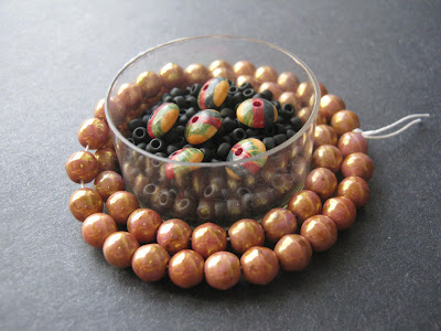 Vintage Glass and Wood Beads