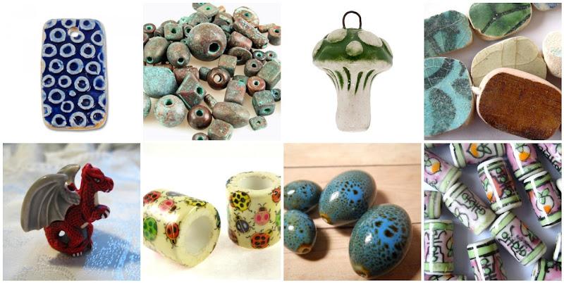 Beautiful Ceramic Beads and Pendants