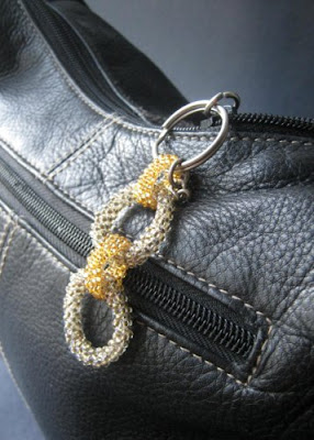 Handmade Beaded Chain Zipper Pull