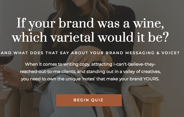what would your brand wine be quiz cover
