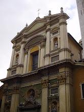 Photo: A view up the façade.