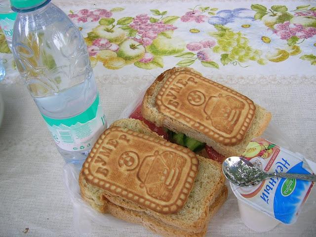 ウズベキスタンのサンドイッチ