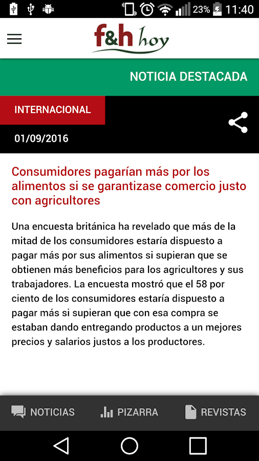 Revista F&H- screenshot