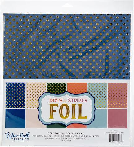Echo Park Double-Sided Collection Pack 12X12 6/Pkg - Gold Foil Dot UTGÅENDE