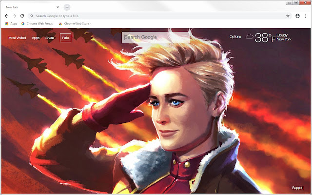 Captain Marvel HD Wallpapers New Tab Themes