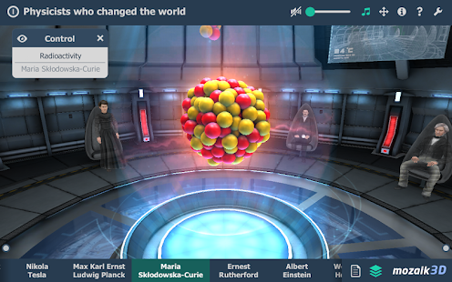 Physicists who changed the world educational VR 3D