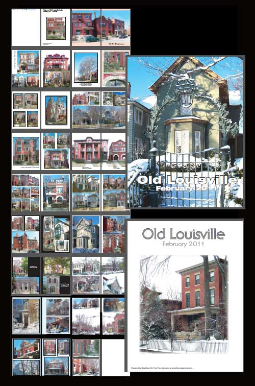 Screenshot of layout for Old Louisville February 2011