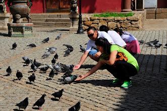 Photo: Monastère Gandan - on vous propose à l'entrée d'acheter des graines. Non pour les manger, mais pour nourrir les pigeons ! un type d'offrandes parmi d'autres, que 60 années de communisme n'ont jamais réussi à effacer.