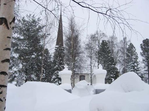 Het kerkje van Tornio staat nog overeind