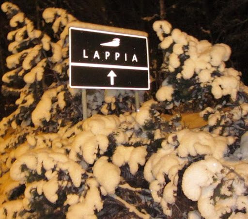 De weg naar Lappia is goed aangegeven