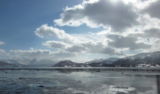 Het begin van de Balsfjord