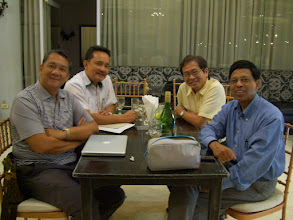 Photo: Felix Tiu, Rex Debuque, Noel Hechanova, and Subijoy Dutta, Centennial Pllaza Hotel, Iloilo,