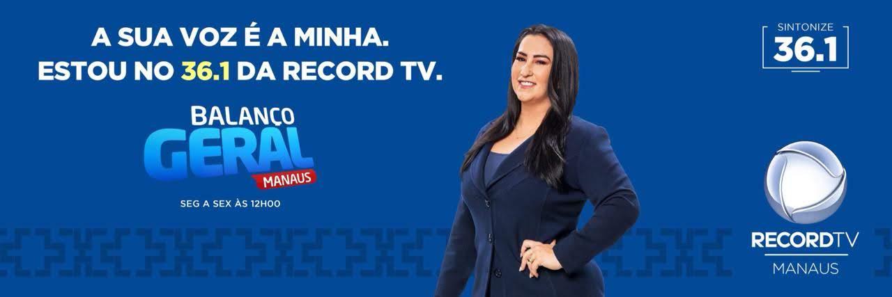 Anúncio de Fabíola Gadelha no comando do 'Balanço Geral Manaus'