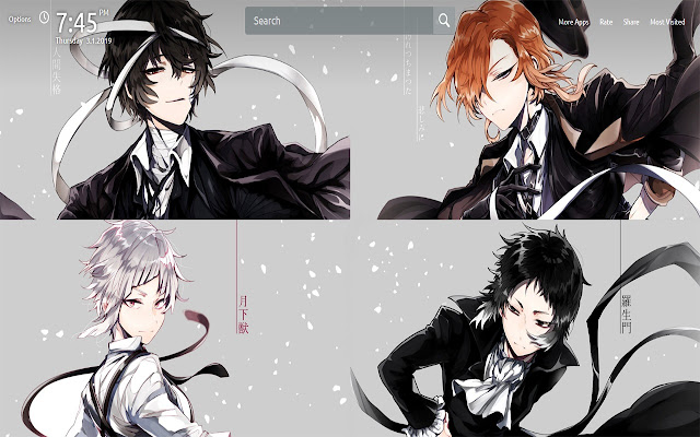 Bungou Stray Dogs Wallpapers Theme New Tab