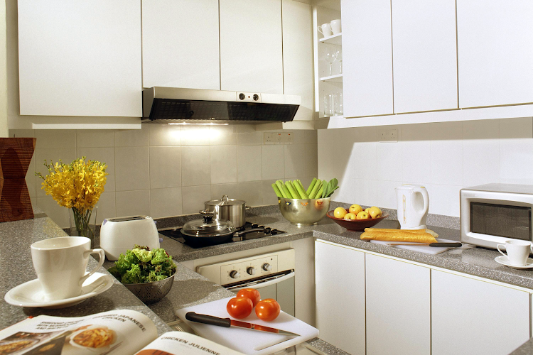 Kitchen at Orchard Road apartment