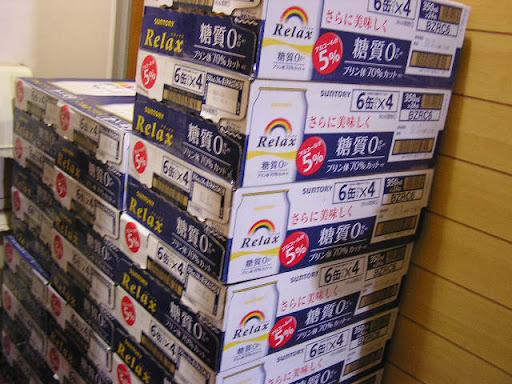 こんな単位でビール風飲料(正確には「リキュール(発泡性)」)を買ったのが始めてなので、 嬉しがって撮っておいた写真です。